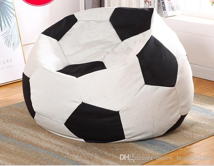 2019 Bean Bag Football Lounger Cover Living Room Furniture Sofa Chairs  Without Filling Beanbag Beds Lazy Seat Zac Kids Indoor Beanbags From ...