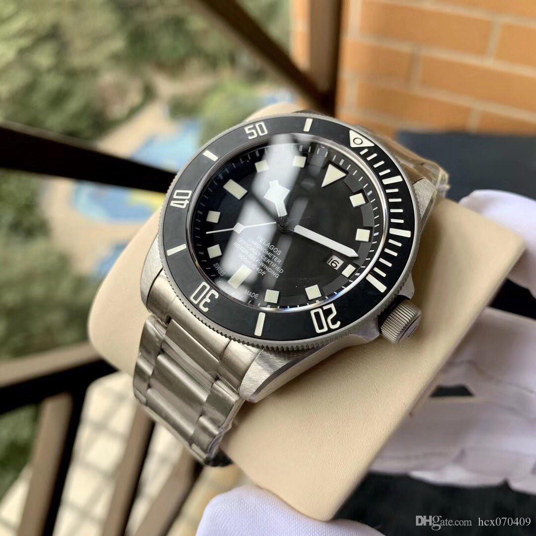 Vendita calda 2 colori di Lusso Mens Watch 42mm Acciaio nuovo movimento Meccanico Automatico Orologi Da Uomo Diving Watch Impermeabile 50 metri