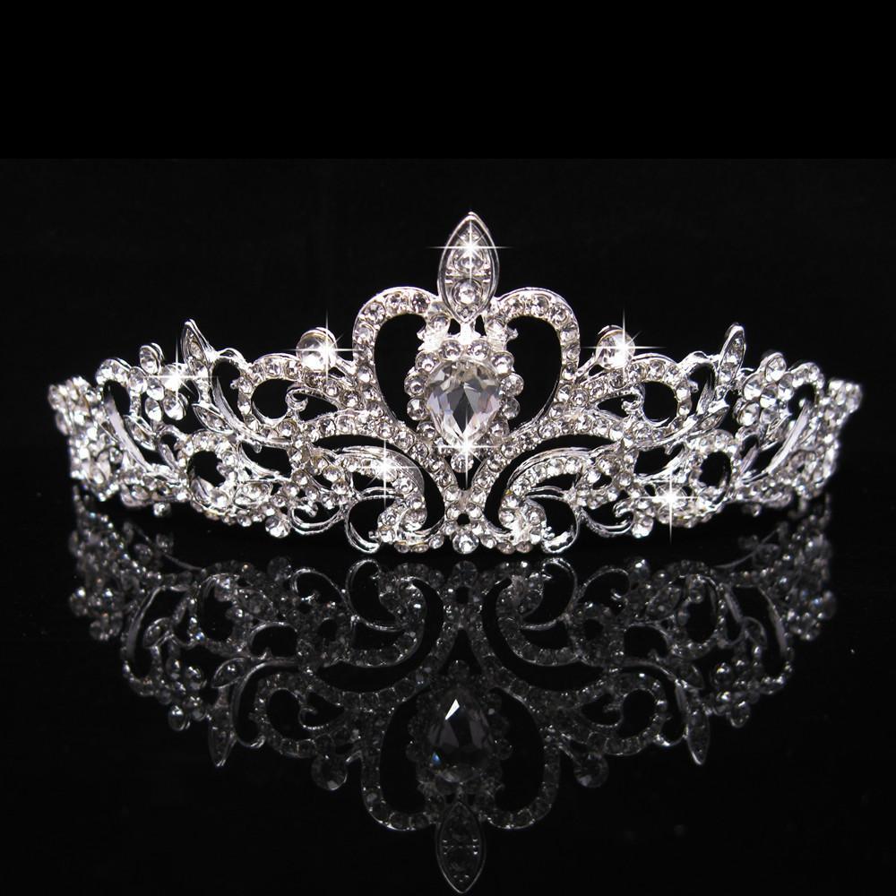 Cristales brillantes Rhinestones Piezas de cabeza de niñas Tiaras Coronas para niños baratos en stock Boda Flor Chicas Accesorios para el cabello Al2020