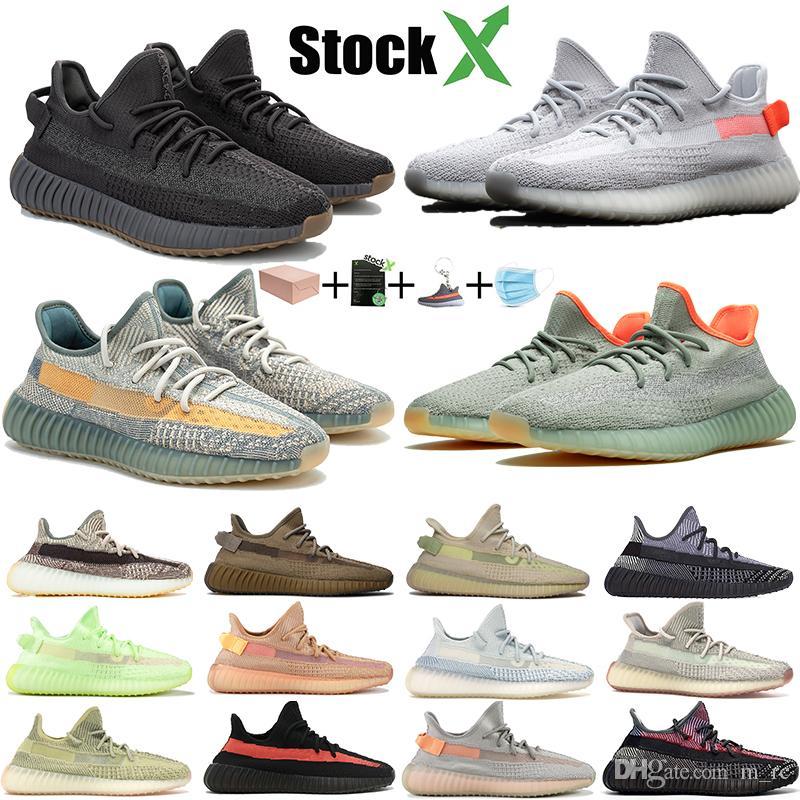 Новые Kanye обувь Tail Light Шлак белье lsrafil Oreo Светоотражающие Бег кроссовки Zyon Ешая Yecheil Black Static Men Тренеров