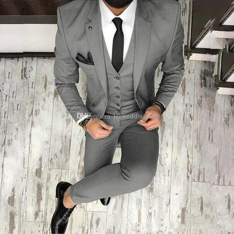 e9e50ec2d02 ... Olive Green Mens Suits for Groom Wedding Tuxedos Notched Lapel Slim Fit  Formal Blazer Best Man ...