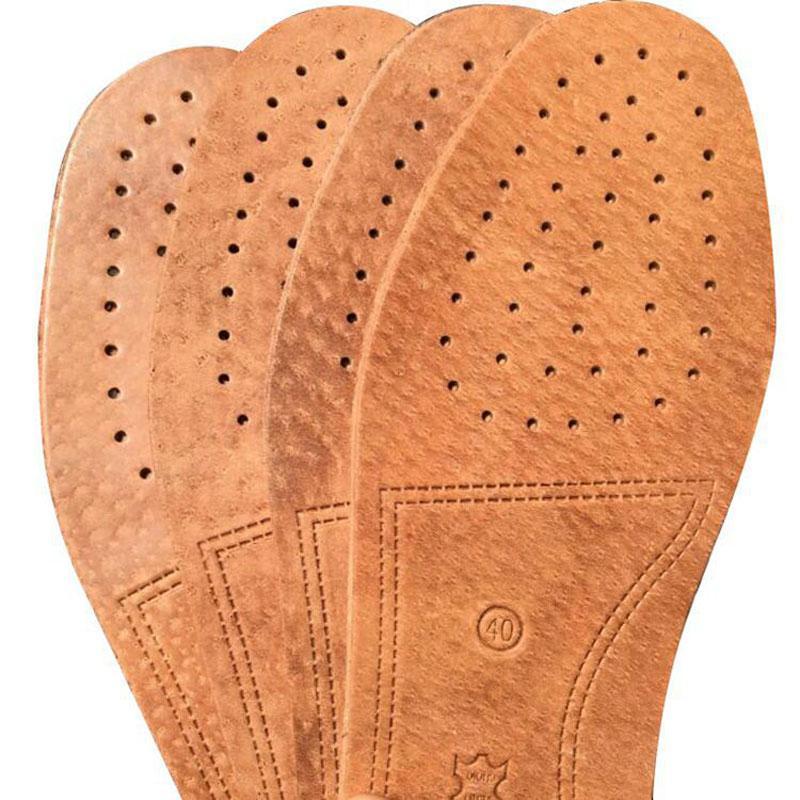 2020 neue Ledereinlegesohle geprägte Deodorant feuchtigkeitsabsorbierend atmungsaktive Innensohle aus Leder Massage nicht dick neutral Leder Einlegesohle verrutschen