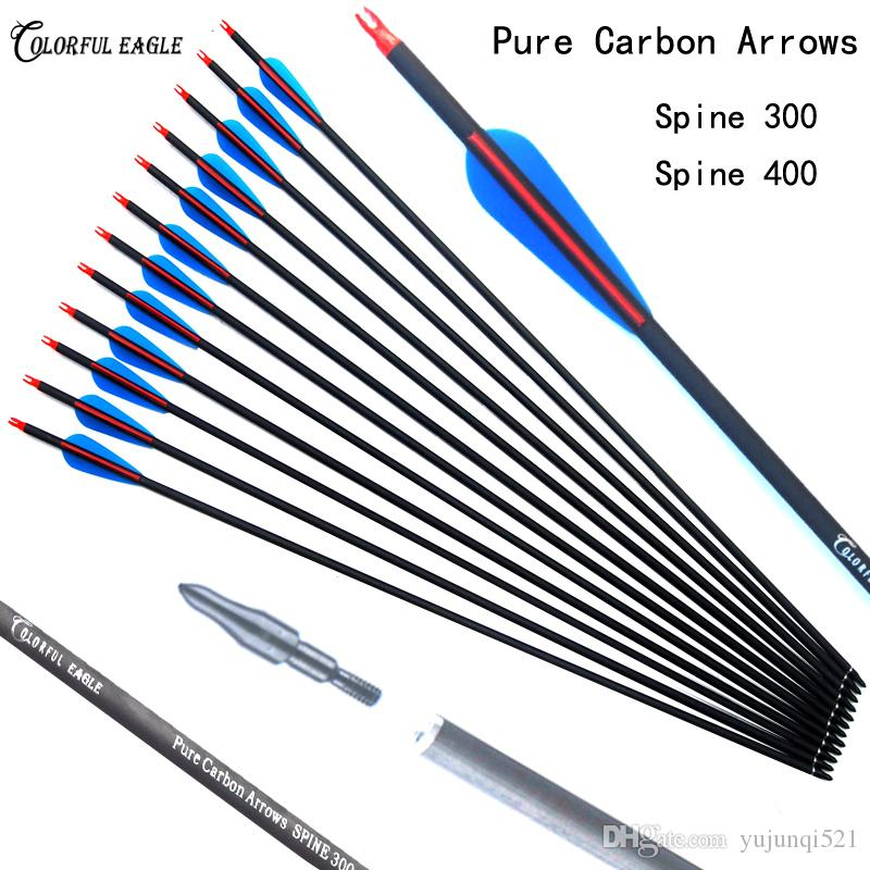 Carbon Arrow Replaceable Arrowhead Tips And Adjustable Nock Compound Re-curve