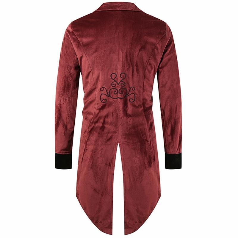 Men Trench Coat Fashion Long Taicoat Halloween Costume Mens Single-breasted Windproof Slim Trench New Tuxedo