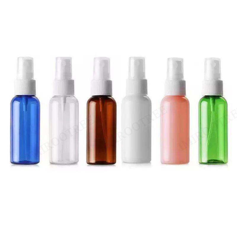 50ml portátil Perfume recarregáveis de plástico fino spray frasco transparente vazio cosmético Frascos do pulverizador