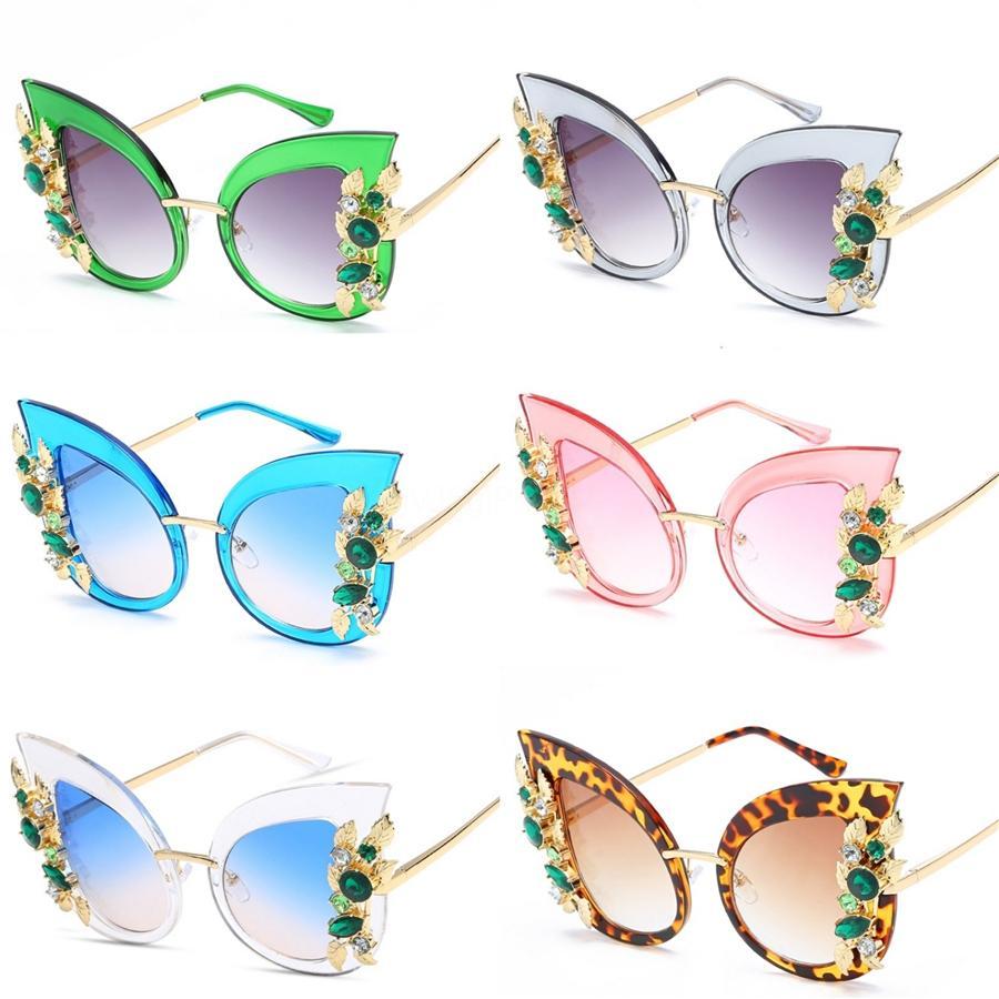 Feidu 2020 New Sexy Cat Eye Lunettes de soleil femmes revêtement miroir Lunettes de soleil pour les femmes au volant Feminino # 516511