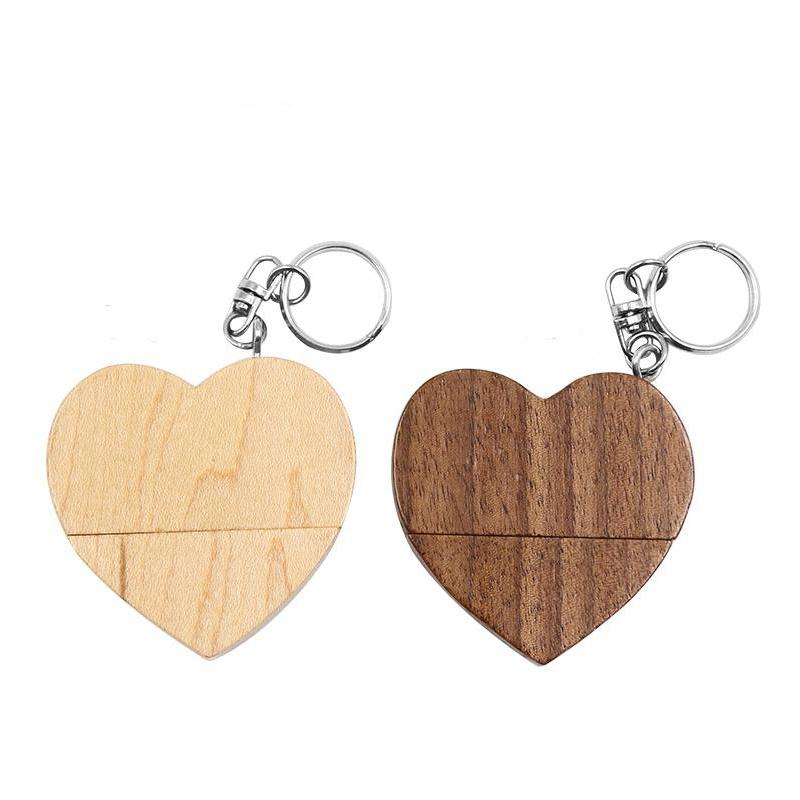 pendrive wooden Heart style USB Flash Drive 2, 0 64GB 32GB 16GB 4GB U Disk photography wedding gifts pen drive