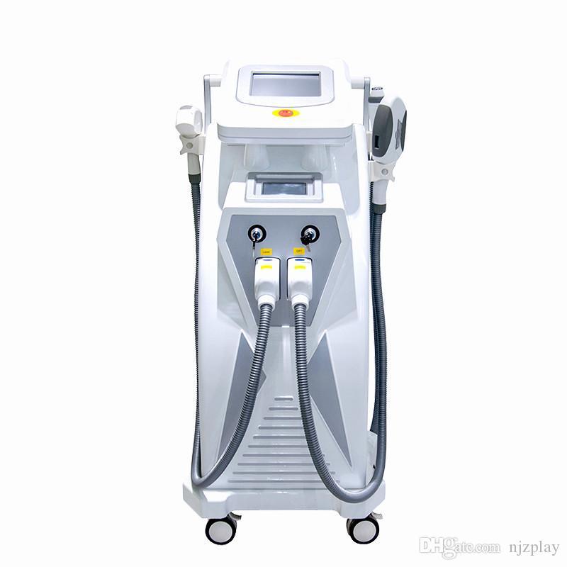 2019 NWE Verkaufsschlager 3000W OPT SHR IPL + Nd Yag Laser + Rf 3 in 1 Laser-Schönheitsmaschine CER