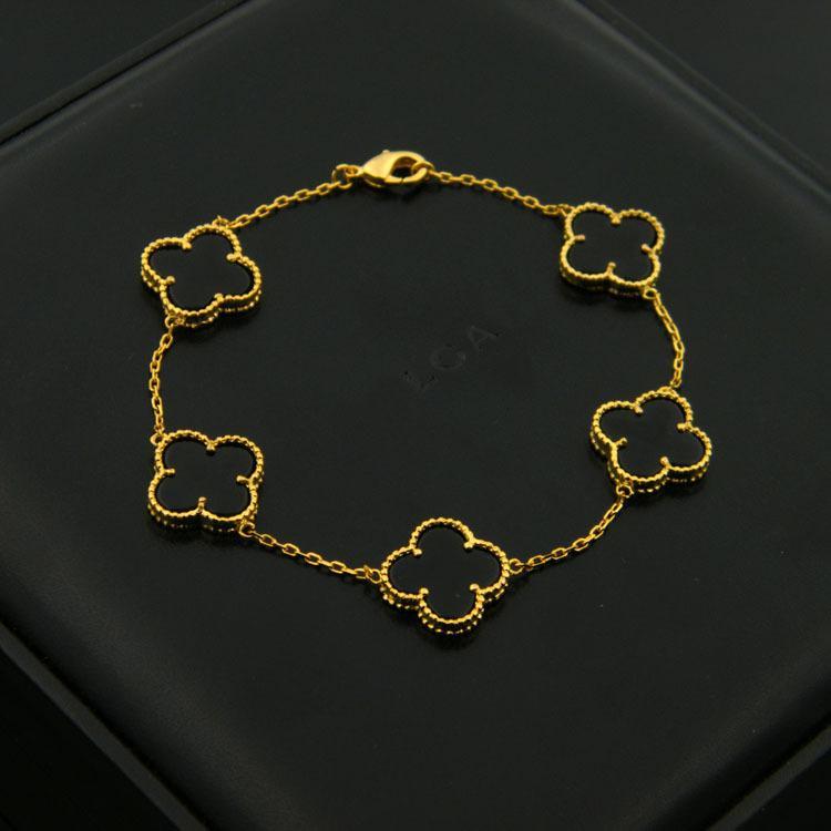 316L Titanium pulseira de amor pulseira de aço com uma flor na pedra verde preto vermelho e diamantes de comprimento 18 centímetros para as mulheres e jóias homem pulseira