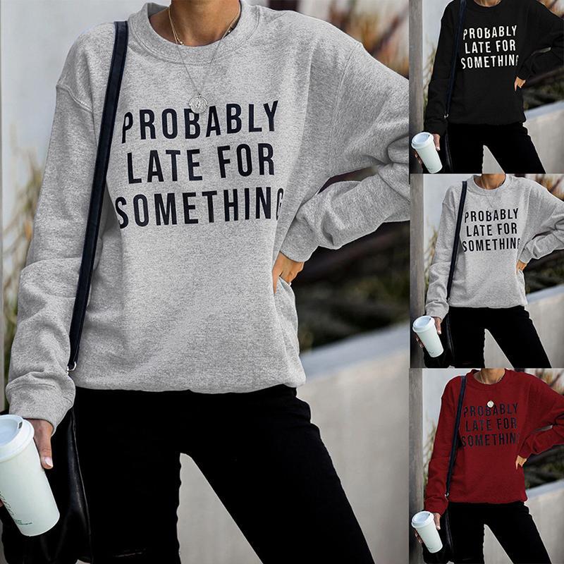 Womens Mens Hoodie Sweatshirt Print Letter Hoody Coat Ladies Pullover Top Loose Casual Womens Jumper Pull Femme