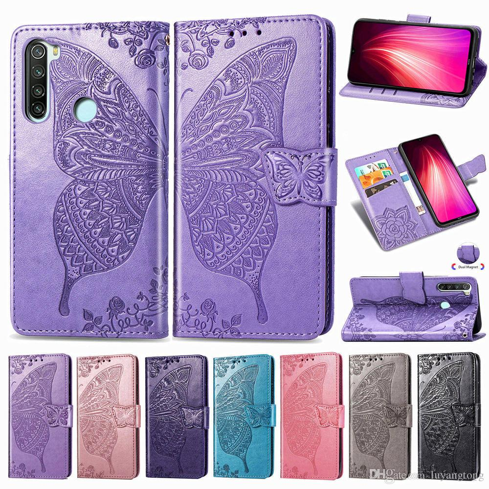 Luxury Flip Leather Case For Xiaomi Redmi Note 8T Cases 3D Butterfly Flower Wallet Cover For Redmi Note 8 T Phone Cover Coque