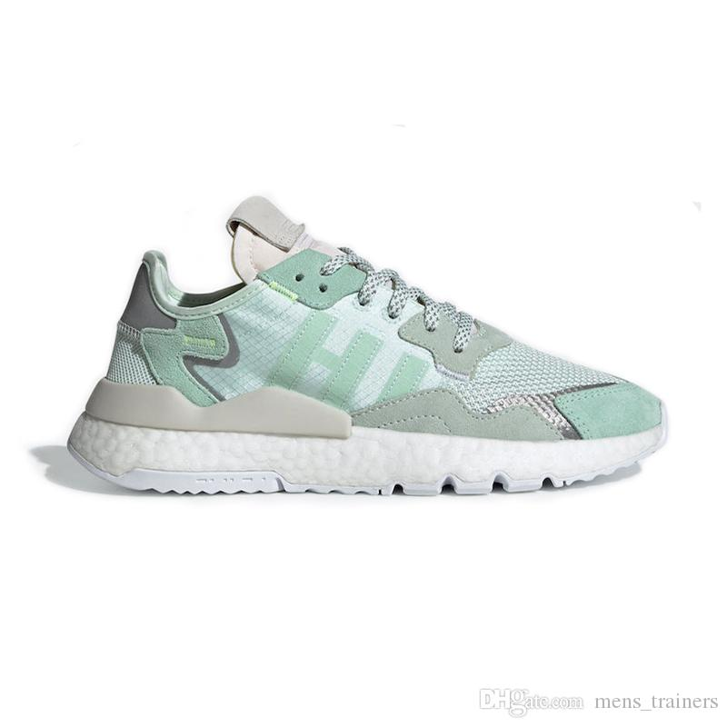 Acheter Adidas Nite Jogger Boost Hommes Femmes Nite Jogger Chaussures De Course 2019 3M Popcorn Triple Noir Rose Blanc Designer Chaussures Hommes