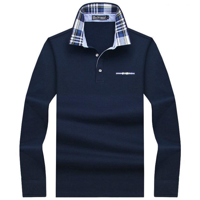 Casual Men Cotton Polo mais espessas Mens manga comprida Sólidos Polo Camisa Polo cobre T Bem Plus Size 7XL 8XL 9XL 10XL