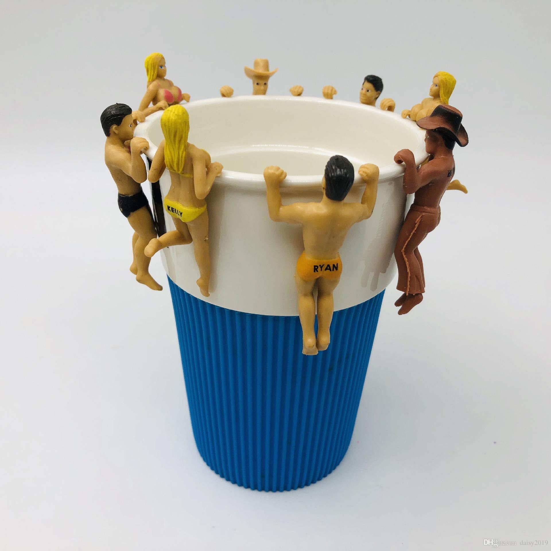PUTITTO The Edge of Cup Series Nobi Nobita Mini PVC Figuras Juguetes Taza Decoración Muñecas