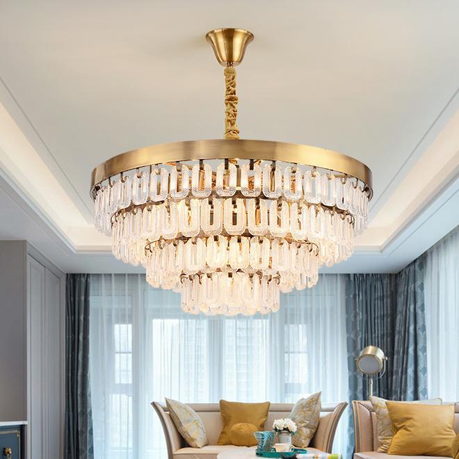 De nouveaux feux arrivée de lustre en verre suspendu pour salon chambre lustres suspendus or d'appareils d'éclairage