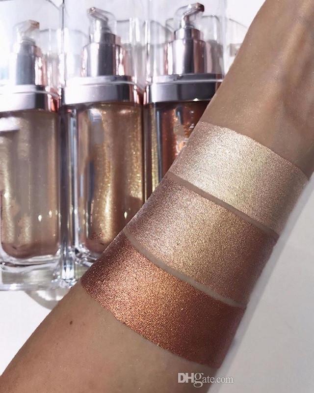 새로운 브랜드 Maquiagem 올 오버 페이스 및 바디 형광펜으로 빛남 브론저 형광펜 무료 배송