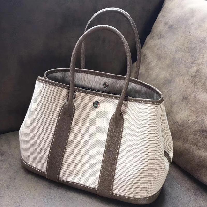 Femmes toile Véritable sac bandoulière en cuir de grande capacité Sacs de luxe Lady Sac en cuir de vache Messenger sac à bandoulière
