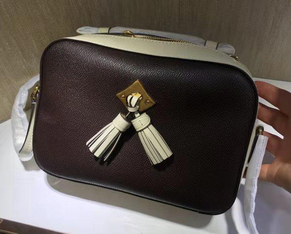 Дизайнер woemen сумка высокое качество женская кисточка камера сумка натуральная кожа сумка 22 см Сумка 43555