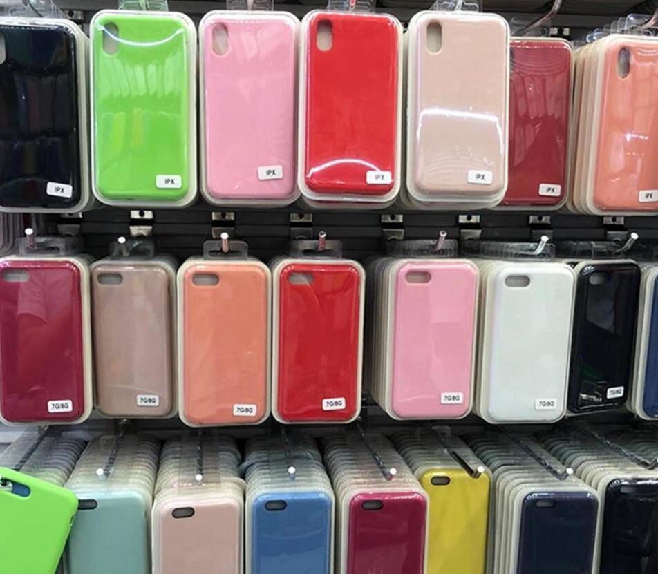 Обложка Оригинальный Официальный Жидкая Твердая силиконовый гель резиновый противоударный телефон чехол для Apple iPhone XS Max XR X 8 Plus 7 6 6S с розничной коробкой