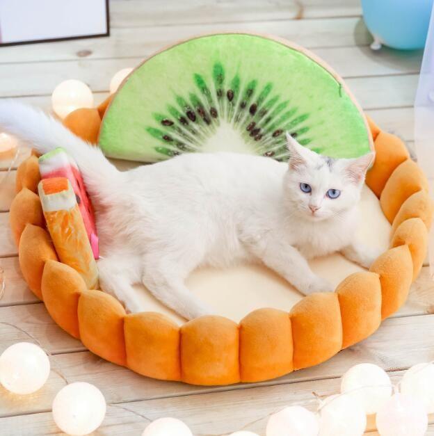 Fruta de la empanada del gatito del gato cama del animal doméstico del perrito de casa caliente mini perro cama del animal doméstico Chihuahua Yorkshire cama del perro de la perrera Mat