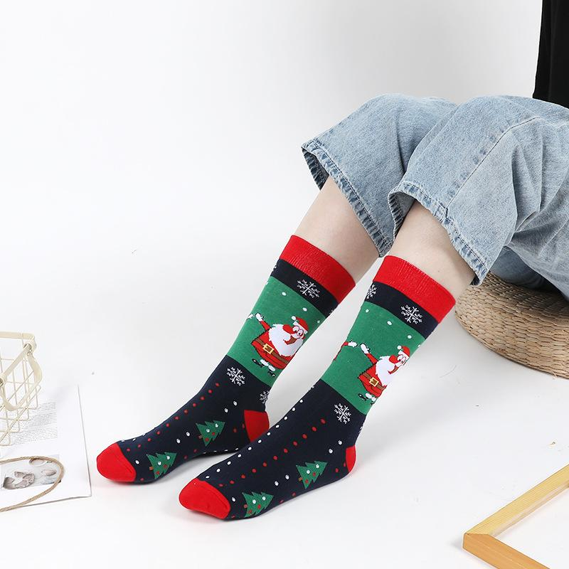 Santa Claus He Is My Friend Cotton Socks For Mens/&womens