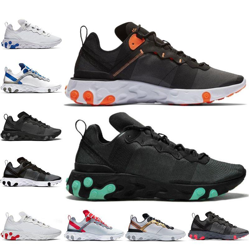 Nike React Element 55 2019 NEUE günstige Volt-getapte Nähte React Element 55 Undercover X Kommende Laufschuhe Solar Triple schwarz Designer Sport Männer Frauen Turnschuhe