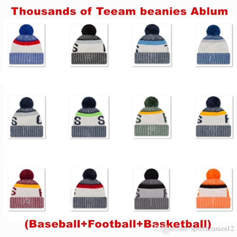 Toptan 2020 Yeni Arrivel Takım Kasketleri Beyzbol Snapback Kapaklar Erkekler ve Kadınlar için Spor Örme Şapka Kış Sıcak Kasketleri En Kaliteli