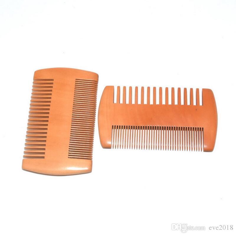 Bolso de madeira Barba Pente lados dobro Super Limite Grosso Madeira Combs Pente Madeira piolhos Pet cabelo Ferramenta LX8766