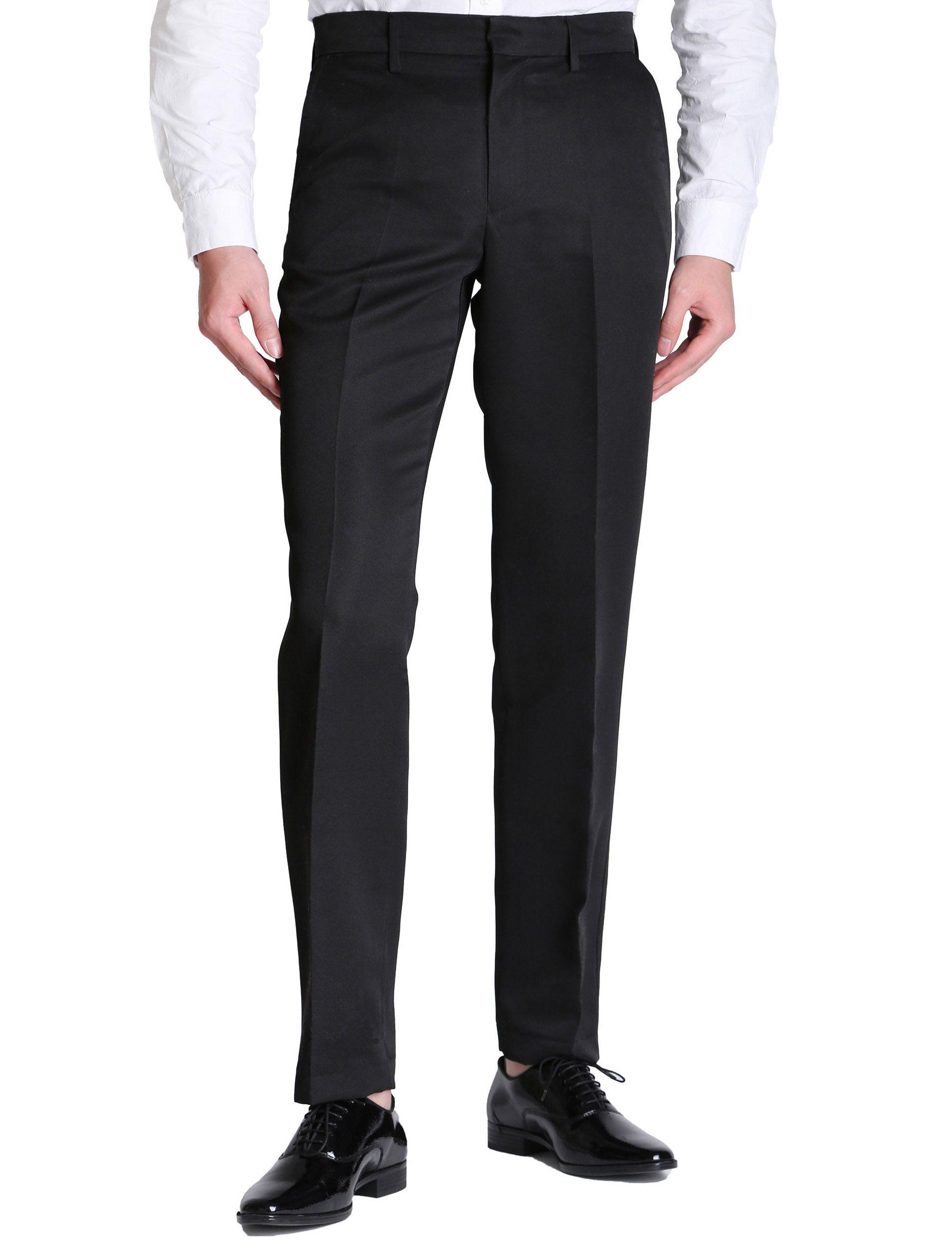 Compre Vero Viva Pantalones Rectos De Corte Recto Para Hombres Pantalones De Vestir De Negocios Pantalones Casuales A 8 58 Del Veroviva Dhgate Com