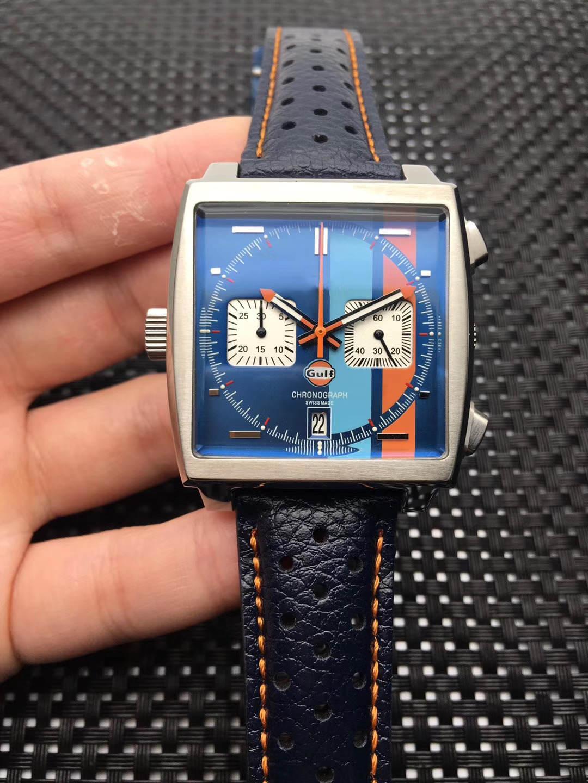 Top-Quahility Nice 42mm orologio da uomo VK64 movimento rivestito in vetro rivestito in vetro fibbia wriswatch di lusso di alta qualità