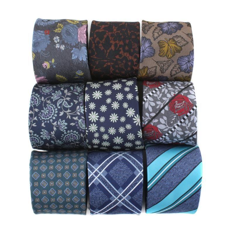 Linbaiway 7cm Men's Necktie Business Dress Shirt Polyester Neckties Corbatas Jacquard Neck Tie Party Cravat Custom LOGO
