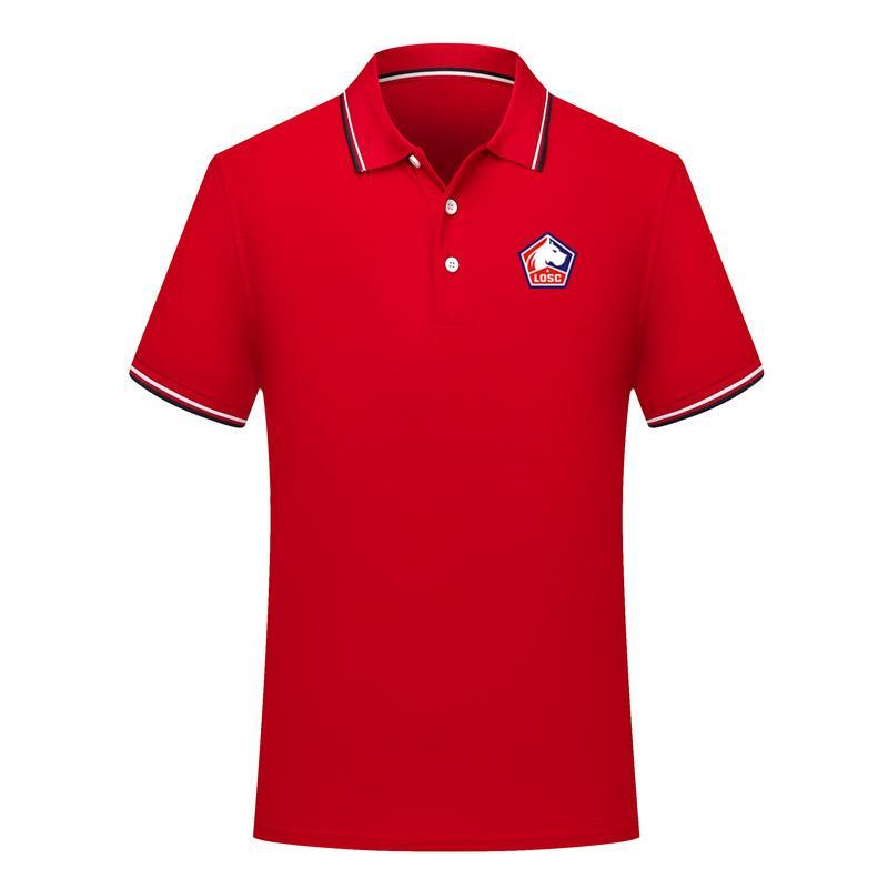 2020 Ligue 1 Lille LOSC Polo camisas de Futebol camisa de futebol Polo 2020 Lille LOSC manga curta camisa pólo de futebol Polos Fãs Tops