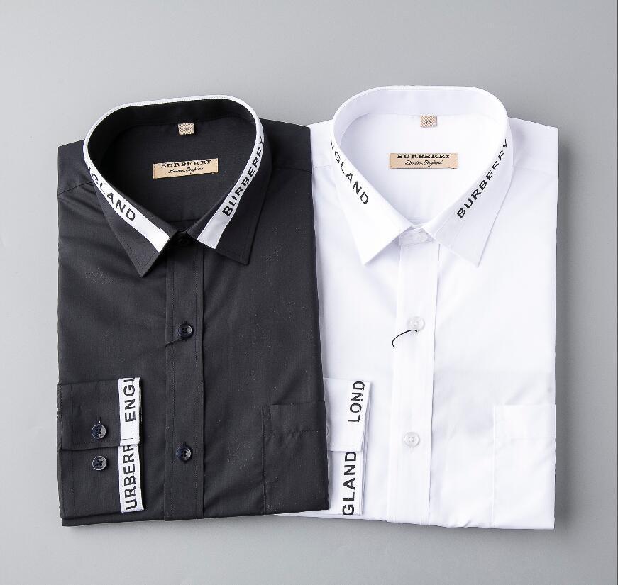 Toptan 2020 Yeni Marka İlkbahar Sonbahar Casual Uzun Kollu Erkek Gömlek Kaliteli Pamuk Biçimsel İş Ekose Erkek Gömlekler Artı G325