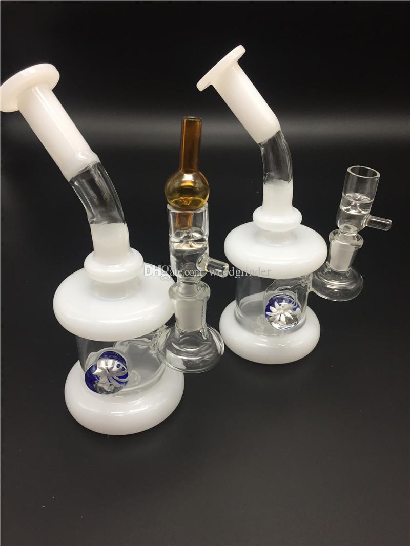 Новый дизайн цветы Recycler стекло табак dab нефтяная вышка бонги helix бонг нефтяная вышка стекло барботер курение воды бонги