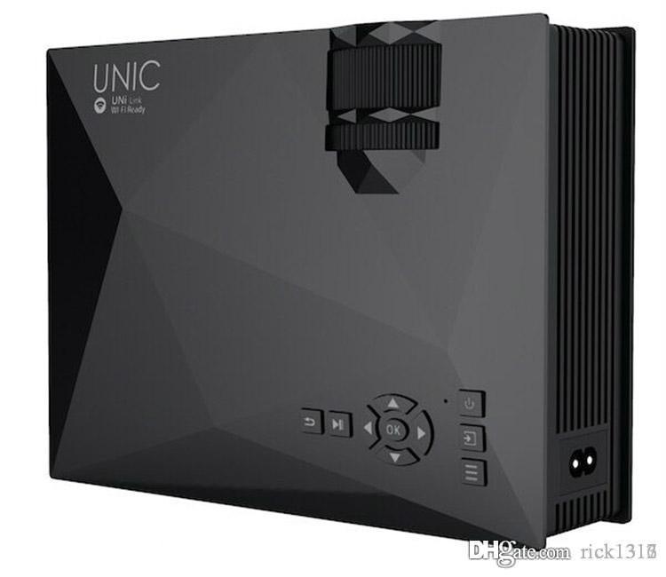 Vente en gros-UC46 Projecteur LED 3D 1200lm wifi projecteur support DLNA 1920x1080 AV USB HDMI VGA SD Mini Home Video Projecteur écran TV Beamer