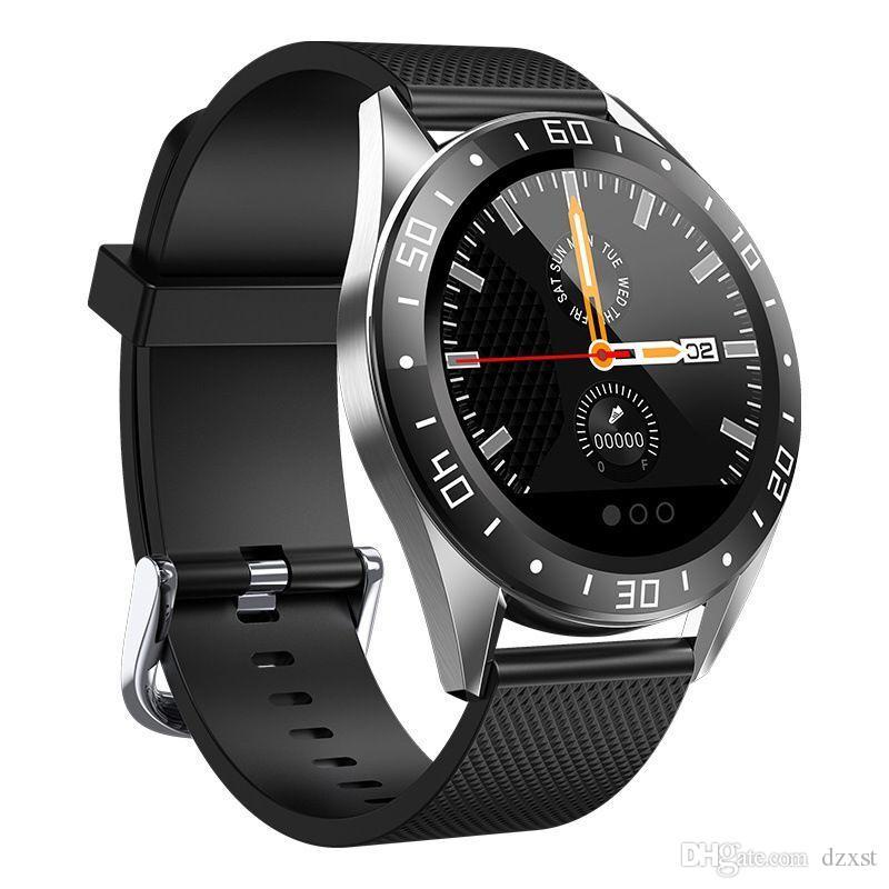 GW15 reloj elegante androide de la presión arterial monitor de ritmo cardíaco rastreador de ejercicios SmartWatch pulsera inteligente Waterprof