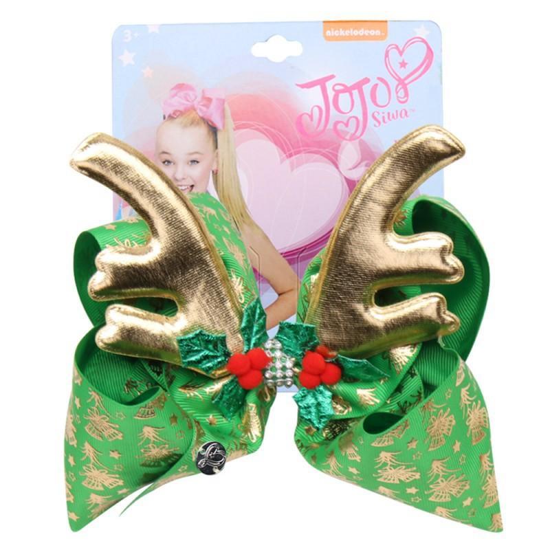Grils Hairclips 4 цвета Рождество JOJO золотые рога алмаз бигуди детям шпильки accessoties 6.7 Дюймов