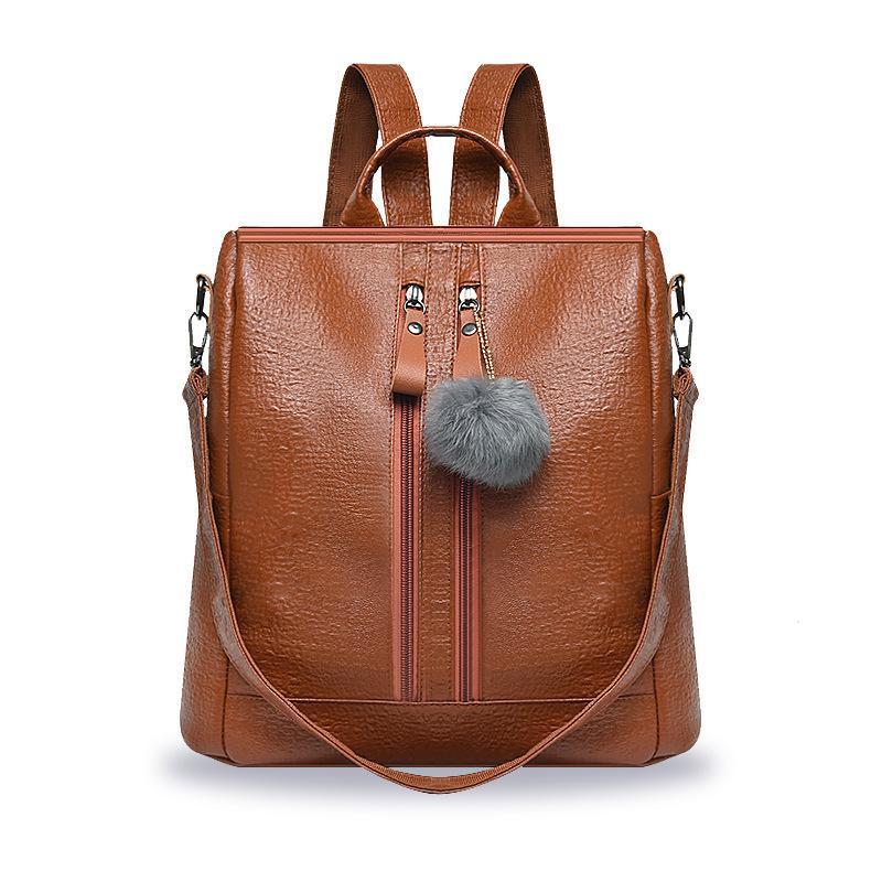 Overseas2019 Cabello, mujer, bulbo, ambos hombros, paquete, tiempo libre, mochila para estudiantes, concisa, portátil, sola mochila para el hombro