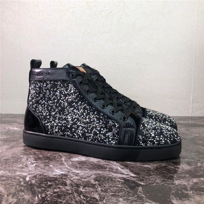 Üst Kalite 2019 Yeni Tasarımcı Lüks Erkek Kırmızı Bottoms Günlük Ayakkabılar Bayan Spike Altın Moda Yüksek Yardım Sneakers BOYUT 35-47 lt