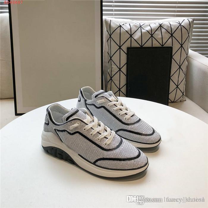 primavera e l'estate signore nuove paillettes lucide fresche serie casuali respirabili leggeri comodi e versatili scarpe da ginnastica con formato della scatola 35-41