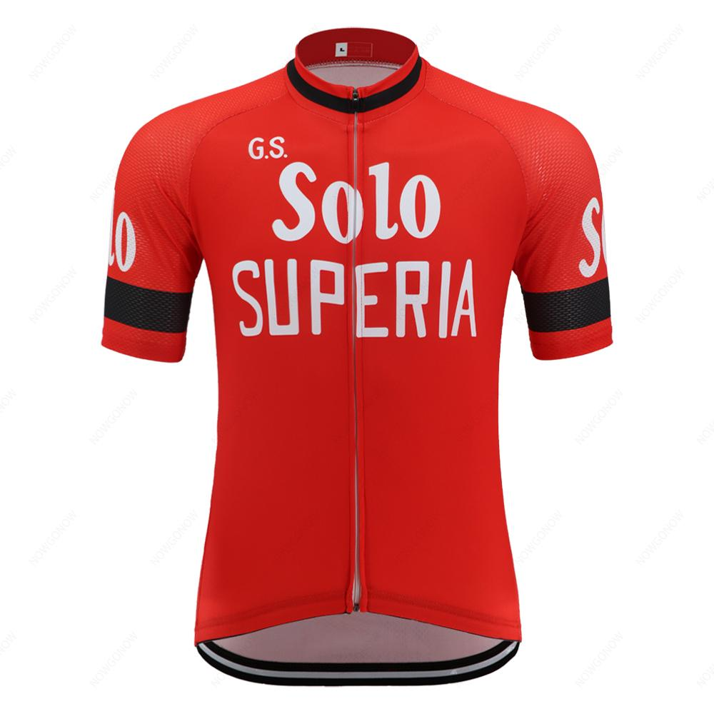 클래식 복고풍 자전거 저지 2020 프로 팀 남자 짧은 소매 레드로드 바이크웨어 셔츠 경주 자전거 의류 속건 경량 저지