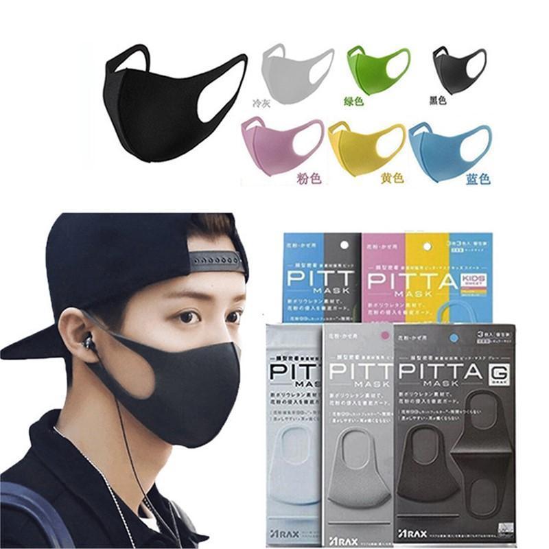 3pcs / pack PM2. 5 قناع التنفس المضاد للبكتيريا قناع الوجه الفم Unisex يقنع قناع التلوث