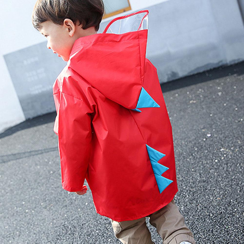 Children Kids Raincoat Waterproof Hooded Cartoon Dinosaur Style for Boy Girls EDF88