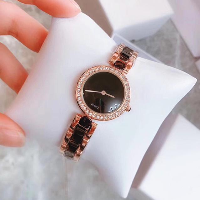 2020 New Fashion Woman Watch Luxury Lady Quarzo Braccialetto in acciaio Braccialetto Catena Brush Diamond Diamante Regali di lusso per ragazze Tempo libero Drop Shipping