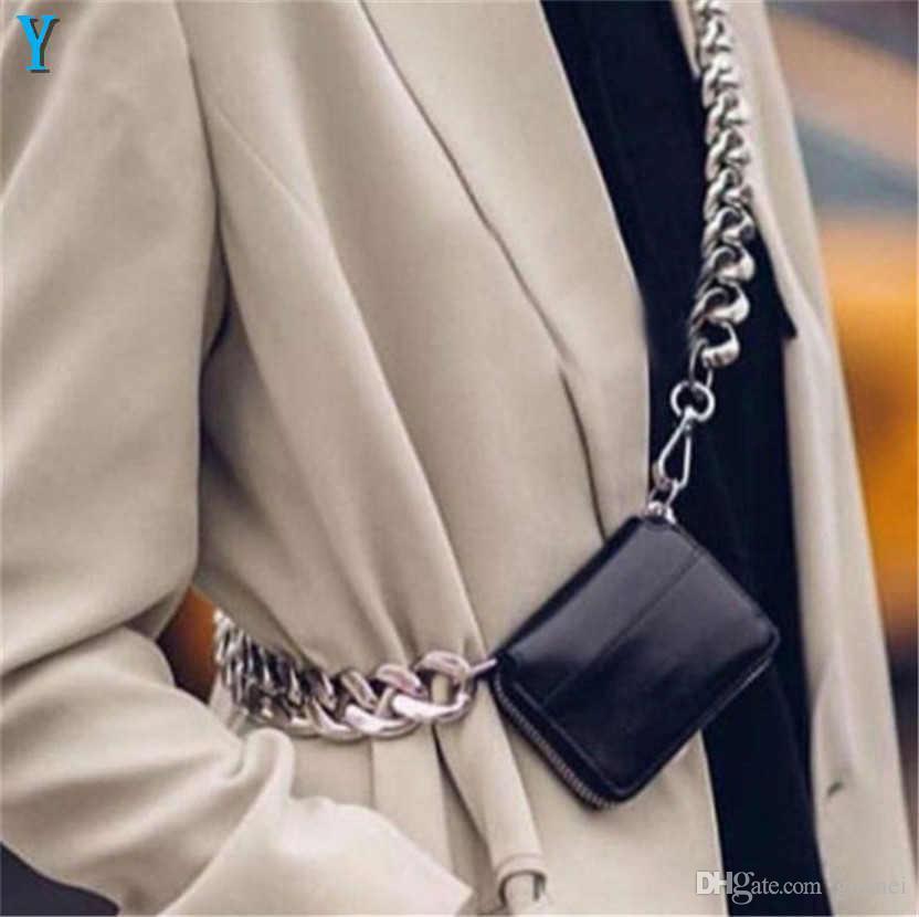 Moda Kadınlar Omuz Sikke Lüks Kalın Zincir Cepler Tasarımcı-Çapraz Çapraz Göğüs Çanta INS Süper Yangın Mini Deri Küçük Kadın Bwsoi