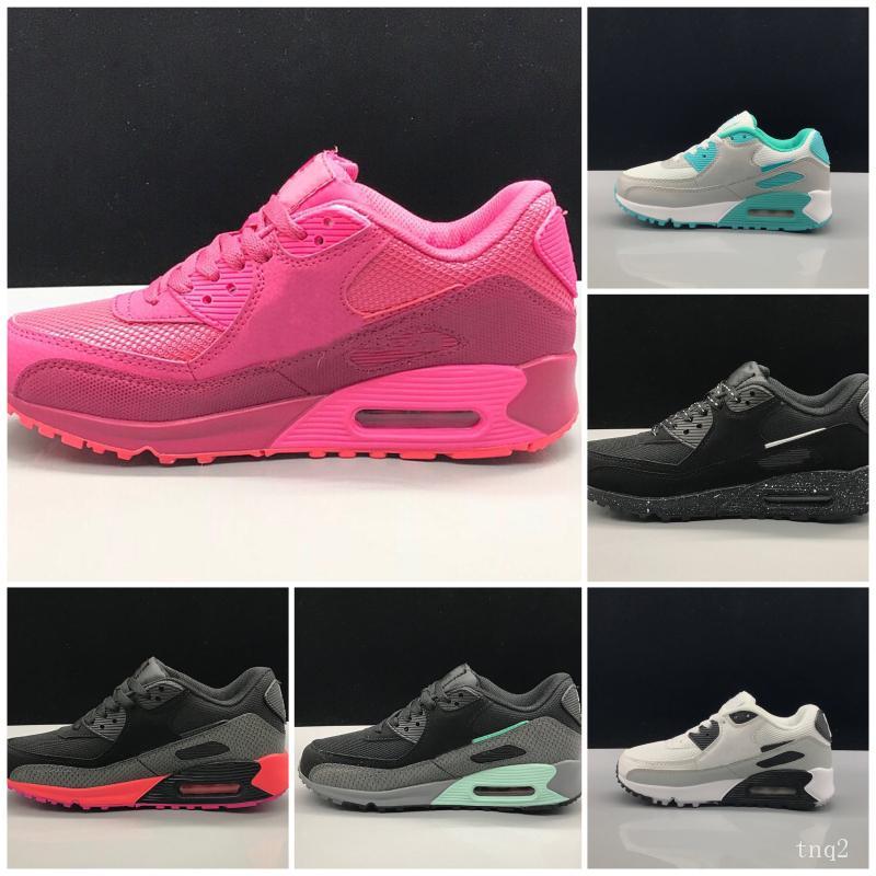 Nike air max 90 Детская спортивная обувь Presto II Детские кроссовки черный белый детские Детские кроссовки детская спортивная обувь девочки мальчики Молодежный тренер Sneake