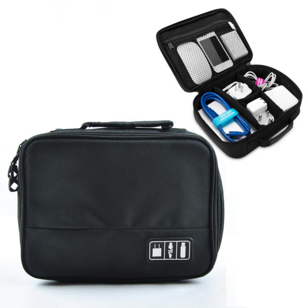 Portable Digital Storage Travel Cable Bag USB Data Cable Charger Earphone Wire Power Bank Cosmetic Gadget Organizer Kit