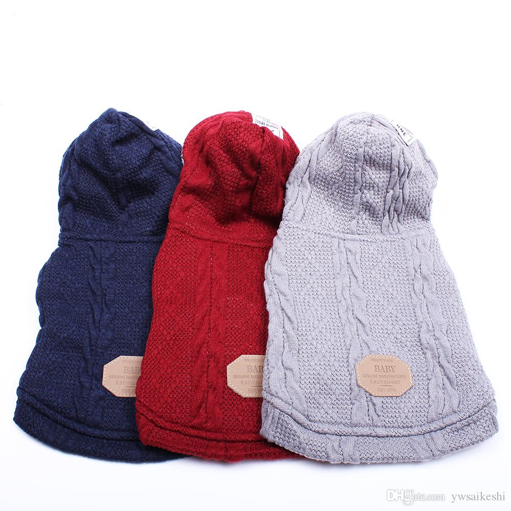 Dog Cat Sweater Hoodie Pet Puppy Coat Jacket Winter Warm Clothes 3 Colours 5 Sizes