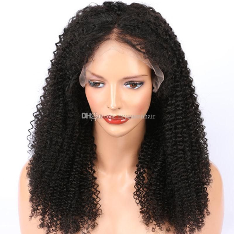 My queen Peruvian virgin human deep part 13*6 lace wigs kinky curly Brazilian Hair 150% density lace front wig with baby hair