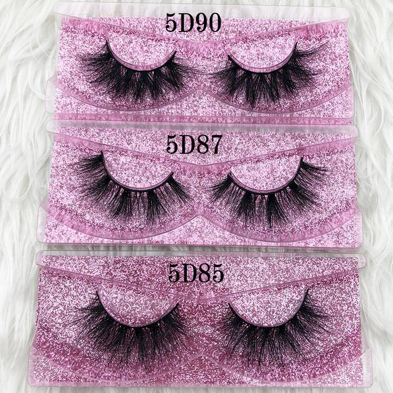 Mikiwi Pestañas de visón 5d Gruesas pestañas de tira completa hechas a mano Oro rosa sin crueldad Maquillaje de lujo Pestañas dramáticas Pestañas de visón 3D